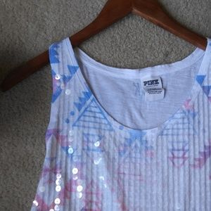 PINK Tops - PINK Tribal Sequin Top